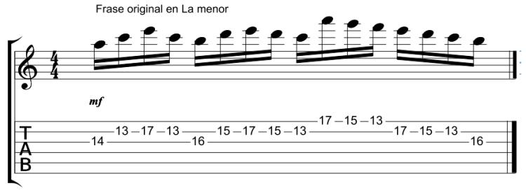 Frase Paganini en La menor