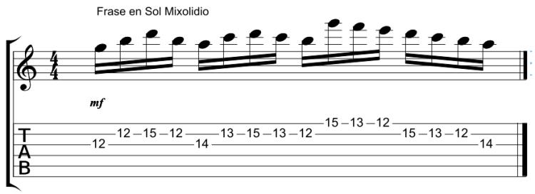 Frase Paganini en Sol Mixolidio