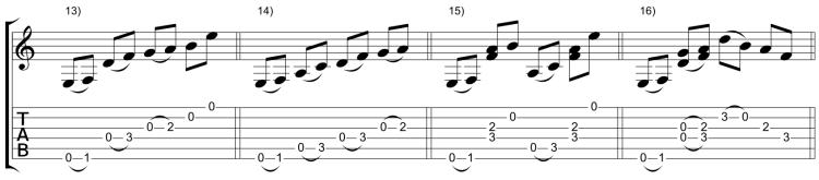 Variaciones 13-16