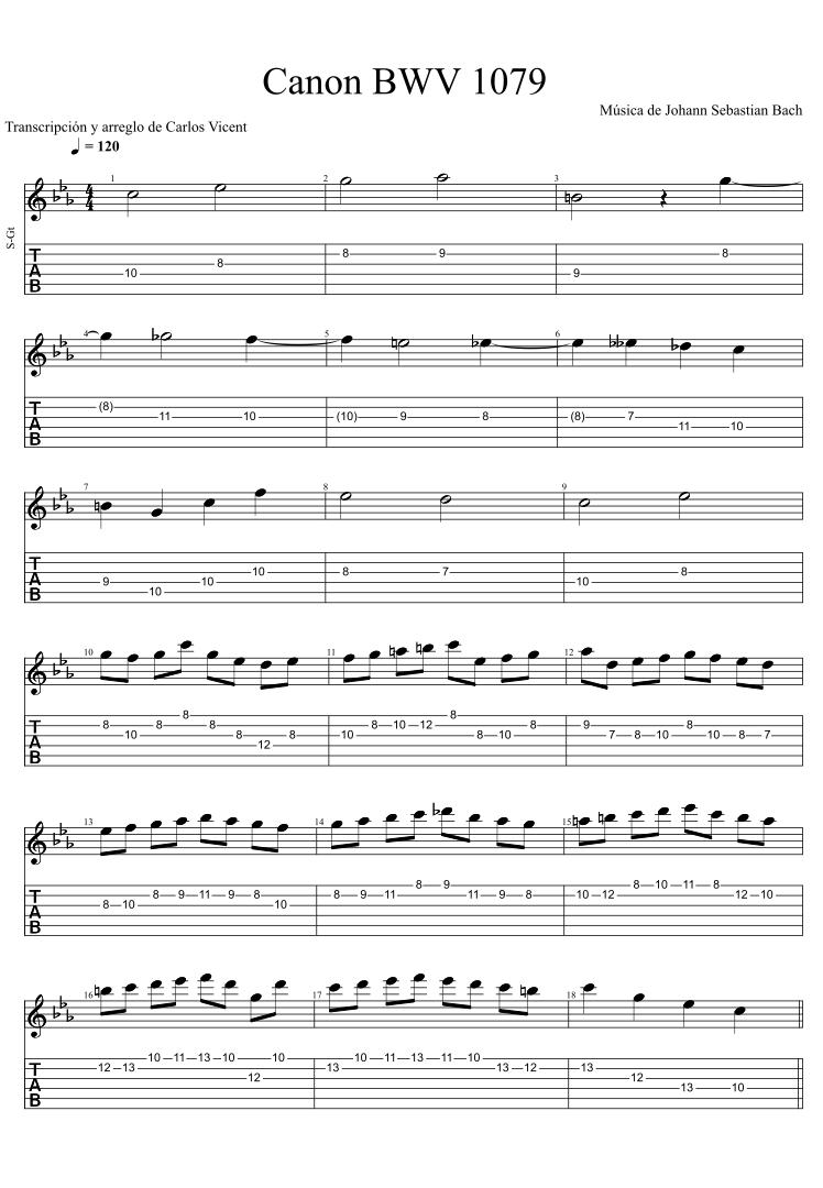 Canon BWV 1079 (a)
