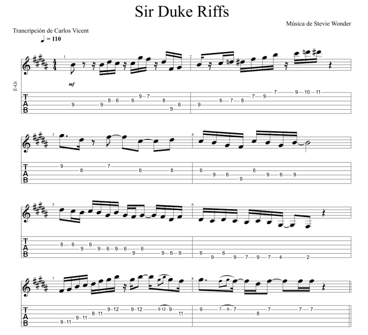 Sir Duke Riffs