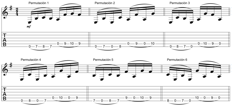 permutaciones 1 a 6
