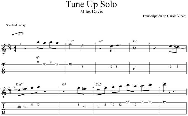 Tune Up Solo 0