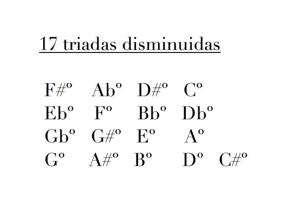 17 triadas disminuidas