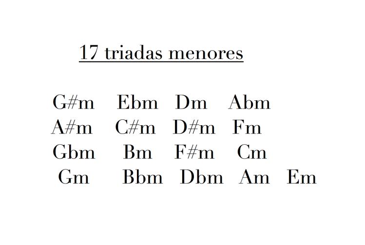 17 triadas menores