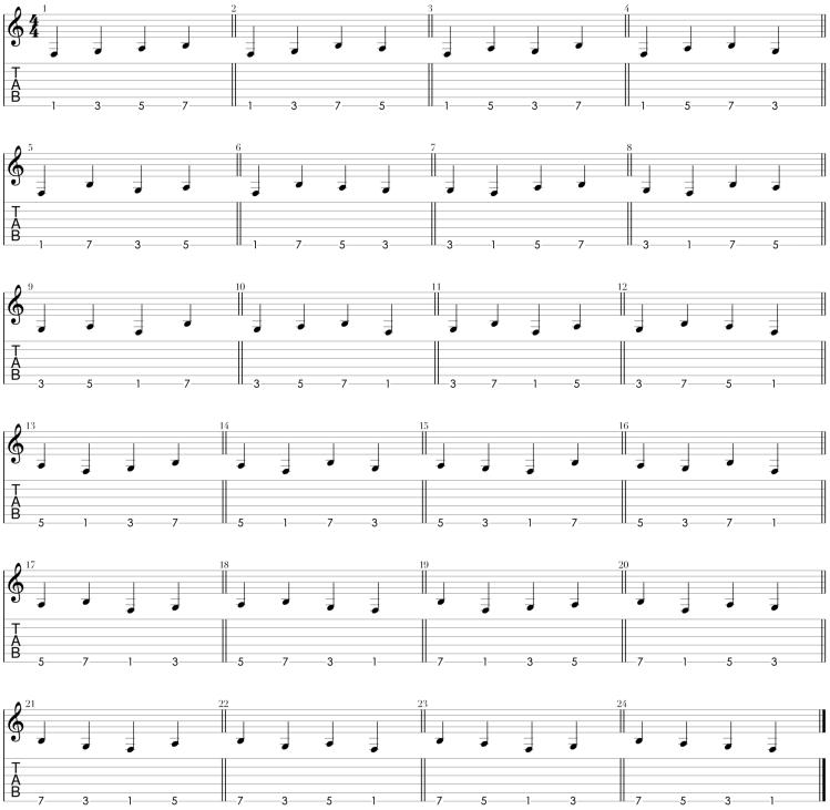 Combinaciones melódicas en 4 notas por cuerda.png
